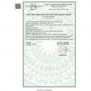 giấy chứng nhận Siro ho Selituss