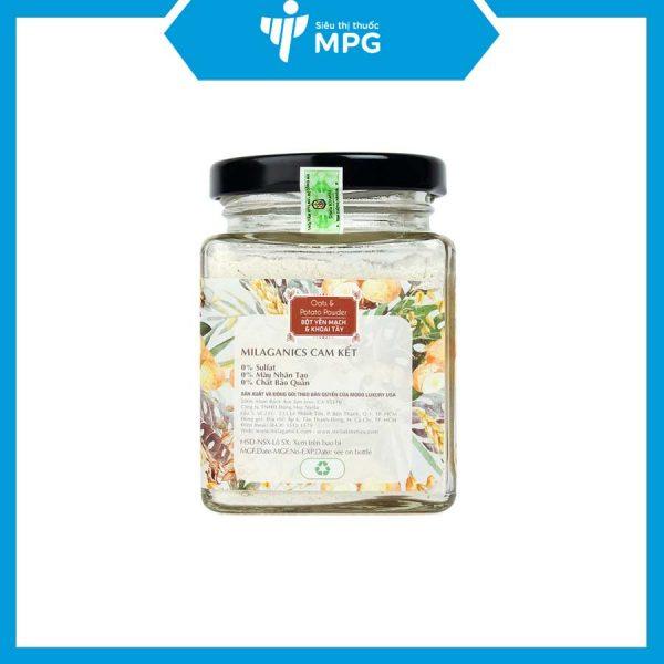 Bột yến mạch khoai tây Milaganics dưỡng trắng da