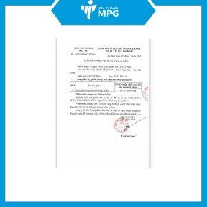 giấy chứng nhận của Kem đánh răng Ngọc Châu