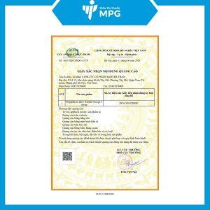 chứng nhận của Kinder omega-3 syrup 250ml doppelherz