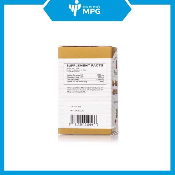 PrimeHealth Cal-Mag-Zinc with Vitamin D giúp hệ cơ xương chắc khỏe