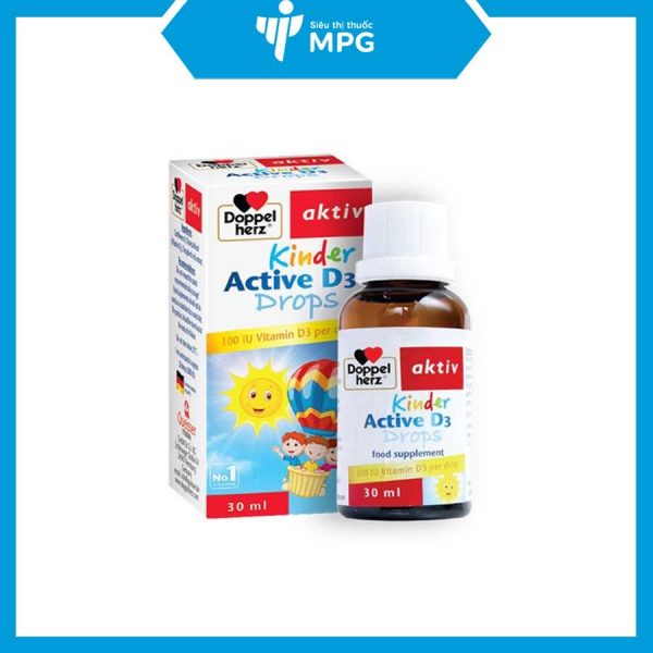 Vitamin D Kinder Doppelherz tăng cường hấp thu canxi