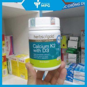 Viên uống bổ sung canxi Herbs of gold calcium K2 with D3 ở siêu thị thuốc MPG