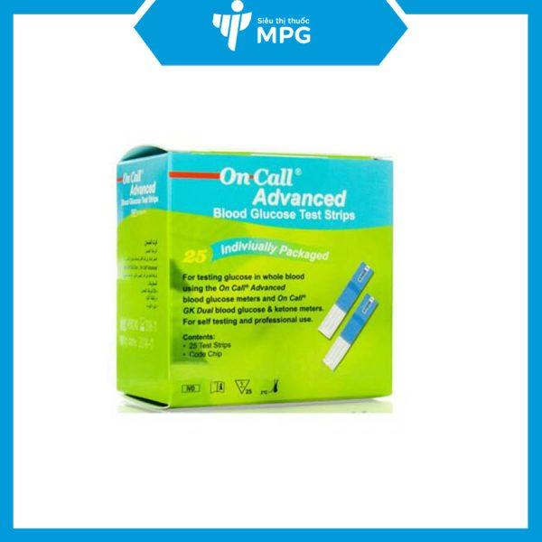 Que thử đường huyết On Call Advanced