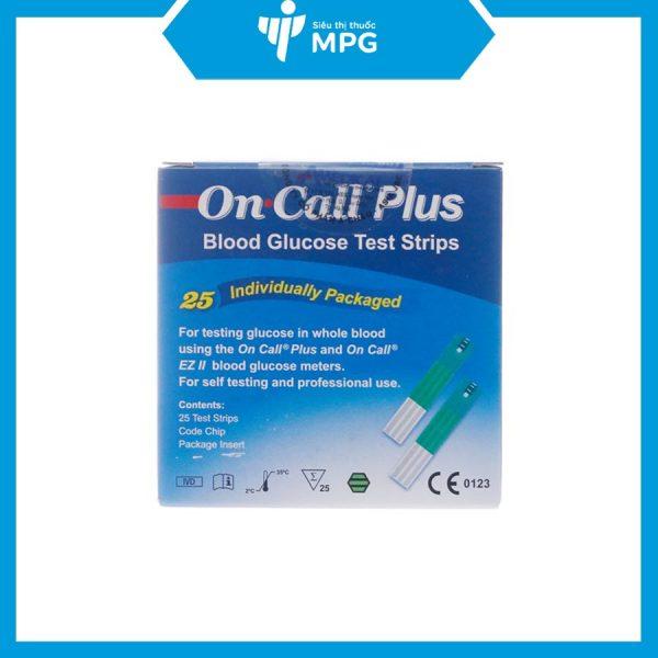 Que thử tiểu đường On Call Plus