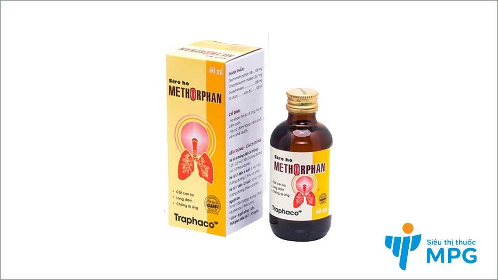 siro trị ho methorphan