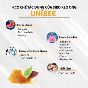 Siro ho keo ong Unibee