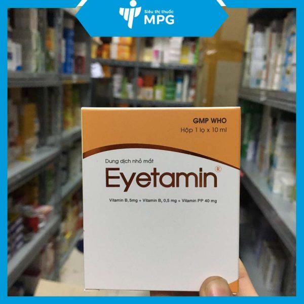 Nhỏ dưỡng mắt Eyetamin