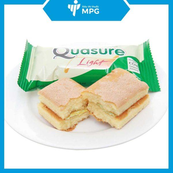 Bánh bông lan Quasure Light Cốm ít đường tốt cho người ăn kiêng