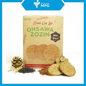 Bánh gạo lức mè đen Ohsawa Zozin cho người ăn kiêng