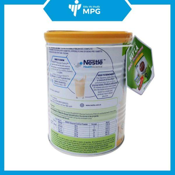 Sữa Nestle Boost Glucose Control 400g cho người mắc đái tháo đường