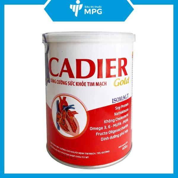 Sữa Cadier Gold tăng sức khỏe tim mạch người bệnh tiểu đường
