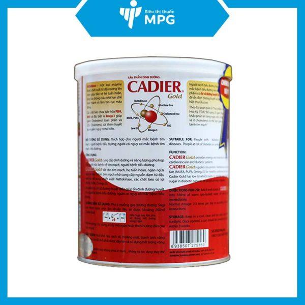 Sữa Cadier Gold 400g cho người bệnh tiểu đường