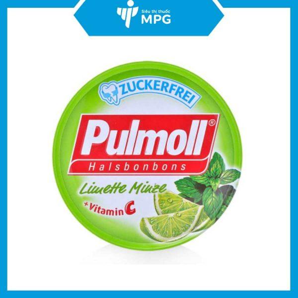 Viên ngậm Pulmoll Limette giảm ngứa rát cổ họng