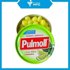 kẹo ngậm ho Pulmoll Limette làm ấm cổ họng
