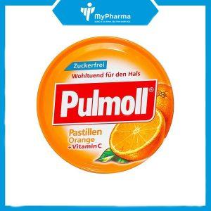 kẹo nhậm ho Pulmoll Orange Vitamin C của Đức