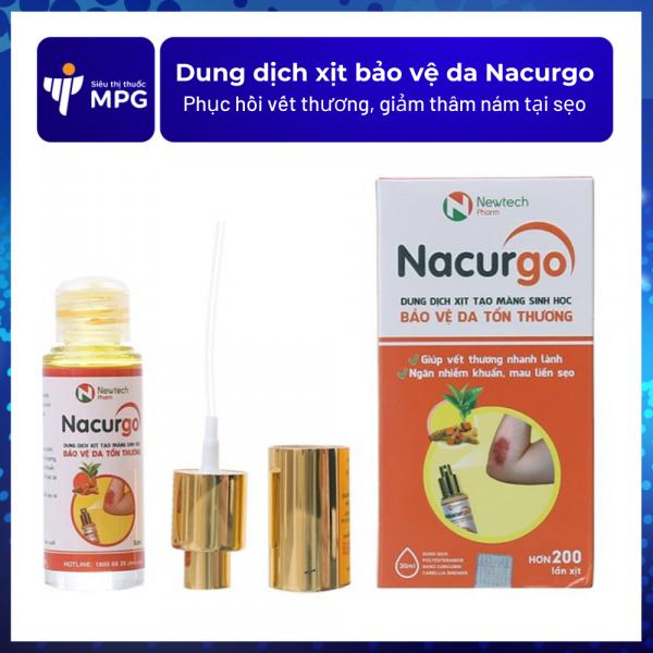 Dung dịch xịt bảo vệ da Nacurgo