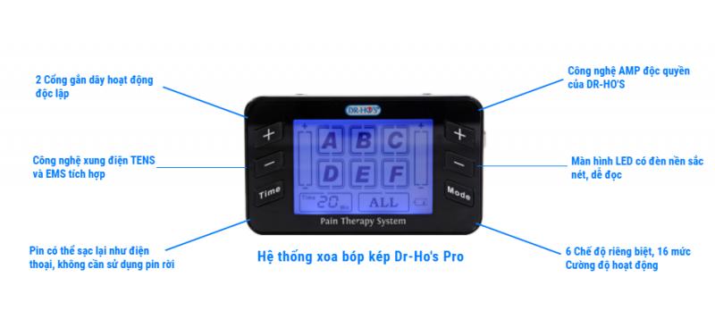 Hệ thống xoa bóp kép Dr-Ho's Pro
