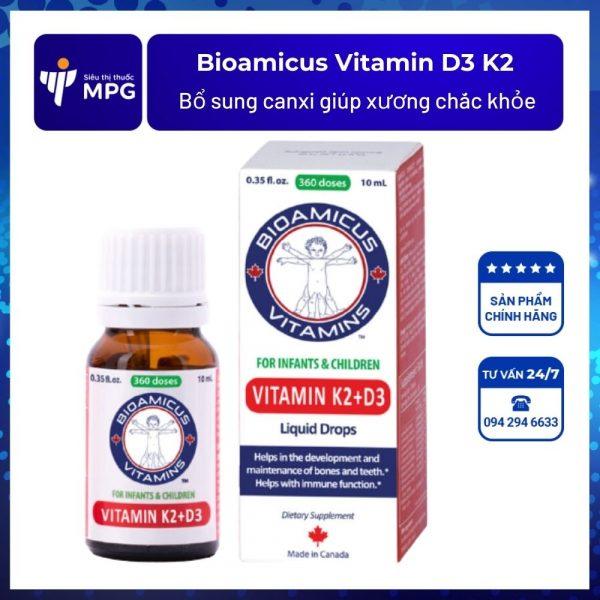 Bioamicus Vitamin D3 K2